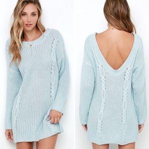 Somedays Lovin' Pastel Blue Sweater Tunic 16-0478
